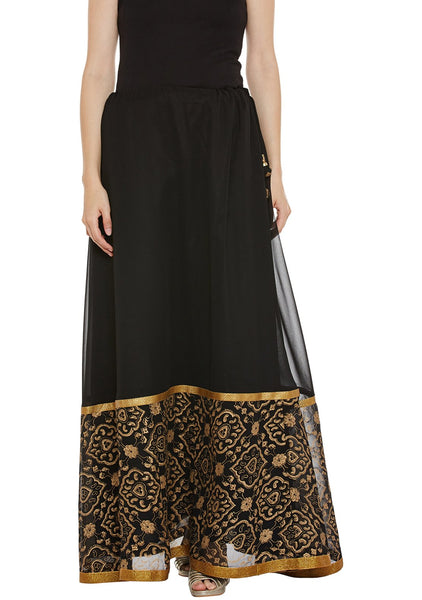 Georgette Block Printed Skirt