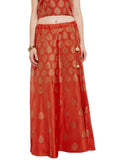 Faux Munga Silk Block Printed Skirt