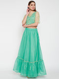 Kota Zari Lace Embellshed Tiered Skirt