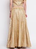 Faux Brocade Kalidaar Skirt