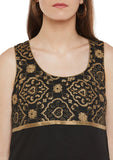 Georgette Block Printed Empire Line Top