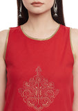 Cotton Mangalgiri Block Printed Top