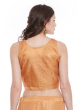 Semi Brocade Crop Top