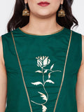 Cotton Poplin Hand Block Printed Panelled Top