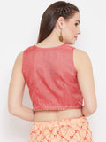 Kota Zari Overflap Embellished Crop Top