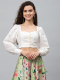 Chroma Button Down Crop Top