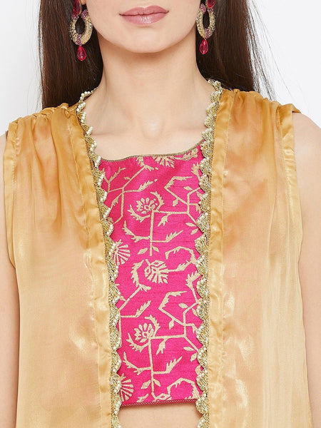 Georgette Shimmer Embellished Shrug