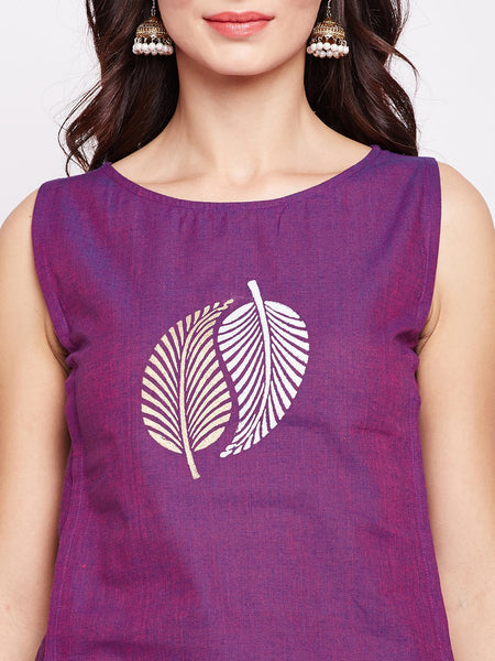 Cotton Mangalgiri Hand Block Printed Top