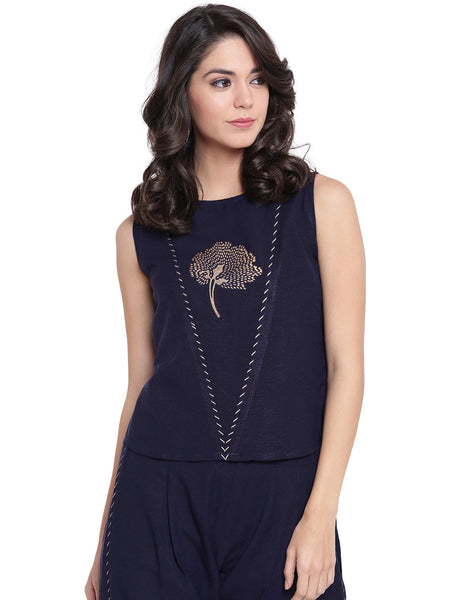 Flex Viscose Hand Block Printed V-Yoke Top