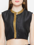 Dupion Embellished Crop Top