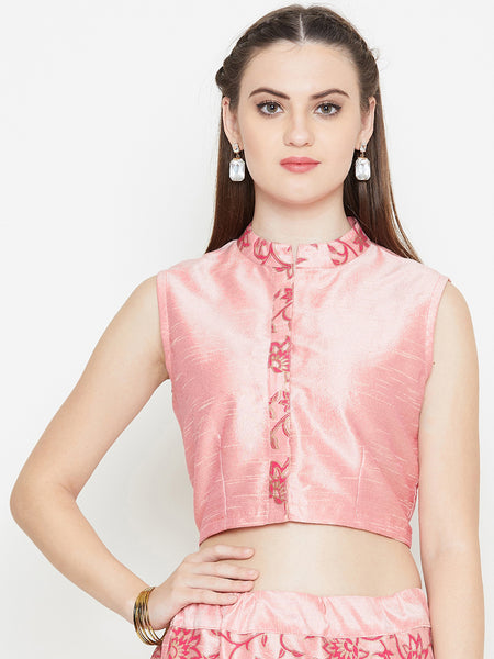 Dupion Printed Crop Top