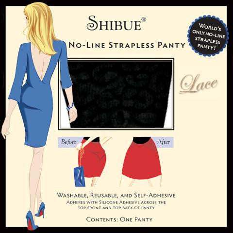 Shibue No-Line Strapless Panty - Lace - Shibue Couture UK