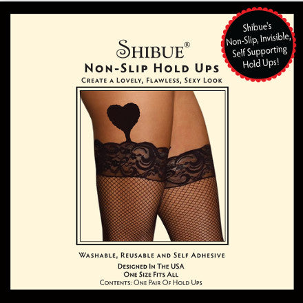 Non-Slip Hold Ups - Fish Net - Shibue Couture UK