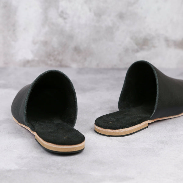 Claudia Mule - Black - Kaali Leather Apparel