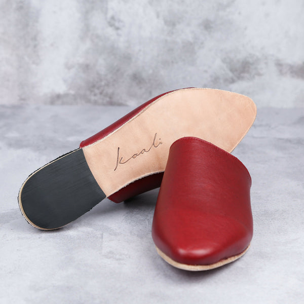 Claudia Mule - Ruby - Kaali Leather Apparel