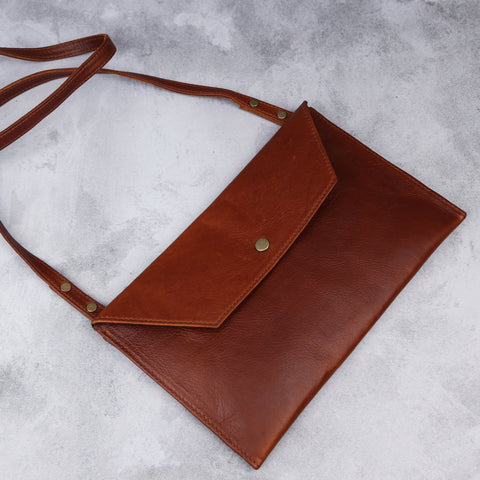 Envelope Sling - Baobab - Kaali Leather Apparel