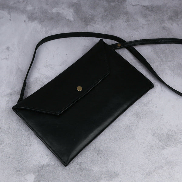Envelope Sling - Black - Kaali Leather Apparel