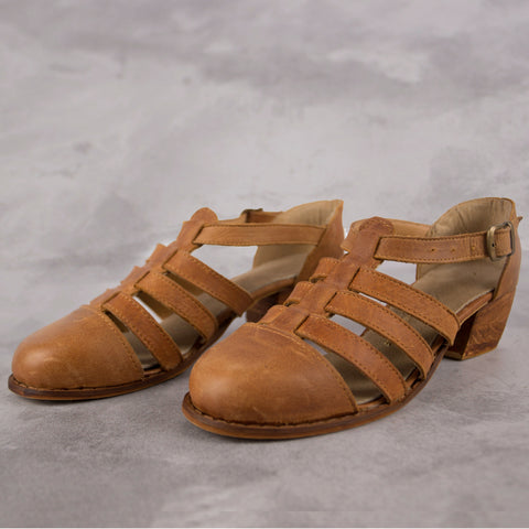 The Jo Sandal - Tan - Kaali Leather Apparel