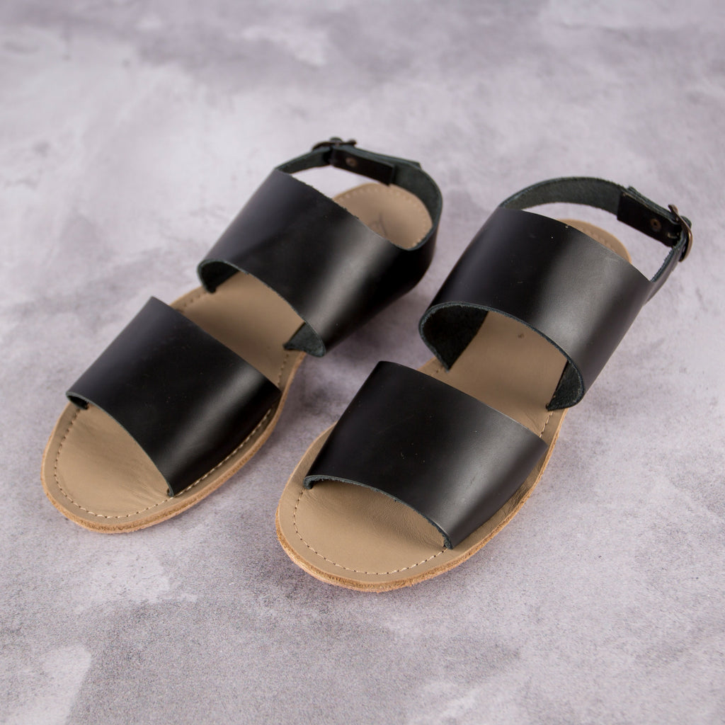 Jodie Sandal – Black - Kaali Leather Apparel