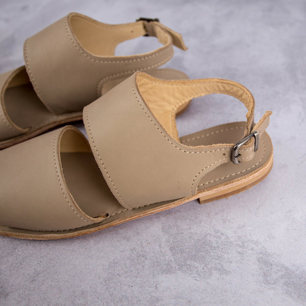 Jodie Sandal – Sand - Kaali Leather Apparel