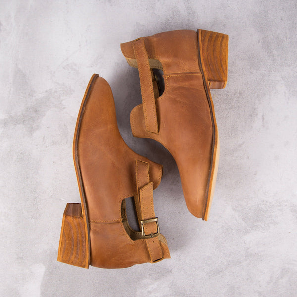 Lulu Bootie - Tan - Kaali Leather Apparel