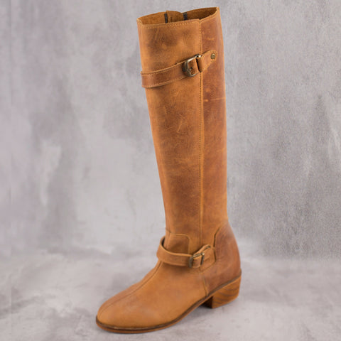 Rae Boot - Tan - Kaali Leather Apparel