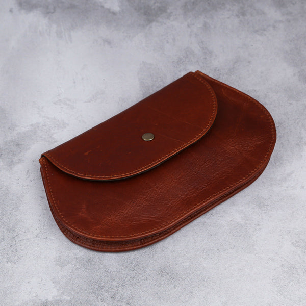 Rounded Clutch - Baobab - Kaali Leather Apparel
