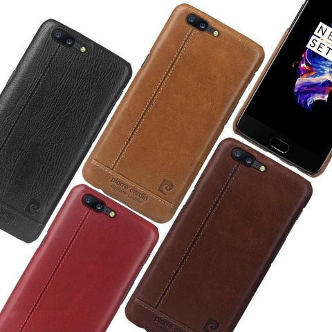 OnePlus 5 Soft TPU Leather Texture Protective Case