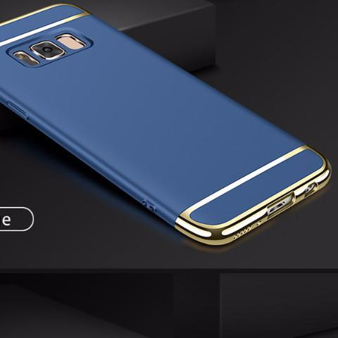 Luxury Metal Plating Hard Plastic Matte Back Cover
