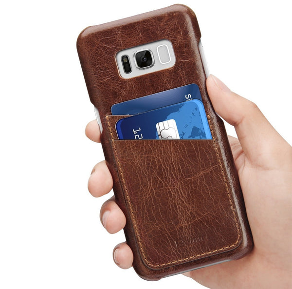 Galaxy S8 Genuine Leather Case with Card Slot