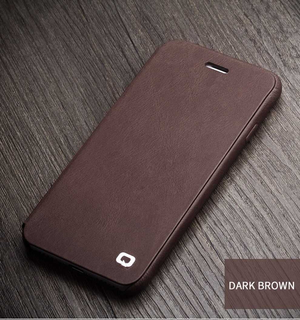 iPhone 7 Genuine Leather Cover with Magnetic Snap