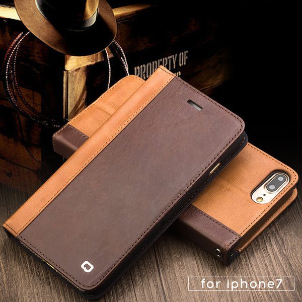 iPhone 7, 7 Plus Genuine Handmade Leather Case