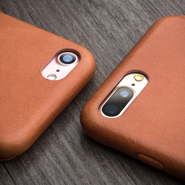 iPhone 7 Plus Genuine Leather Cover with Magnetic Snap