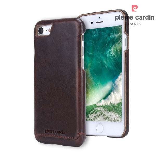 Luxury iPhone 7 Genuine Leather Coated PC Back Case
