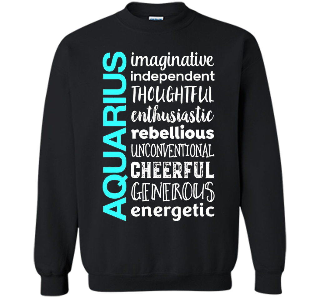 Aquarius Zodiac Sign Typography T-Shirt shirt