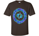 Pisces Zodiac sign floral wreath flower horoscope symbol tee t-shirt