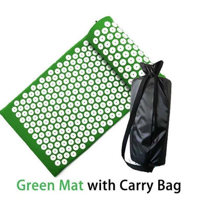 FlexRegen™ - ASANA Accupressure Massage Mat (Pillow Included) FlexRegen Green mat with bag