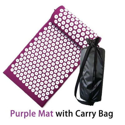 FlexRegen™ - ASANA Accupressure Massage Mat (Pillow Included) FlexRegen Purple mat with bag