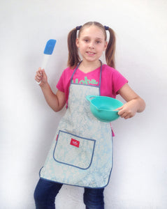 Faded Grey Kids Apron