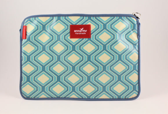Blue Geometric Tablet Sleeve