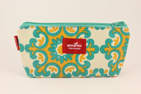 Green/Yellow Makeup Bag - Small