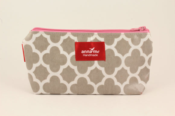 Grey Makeup Bag - Small