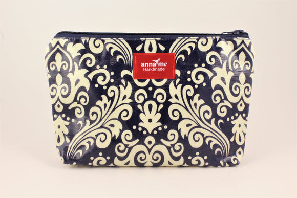 Navy Makeup Bag - Large