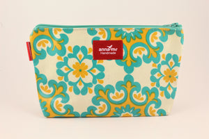 Green/Yellow Makeup Bag - Large