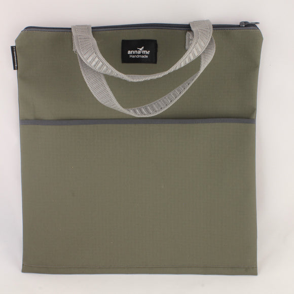 Ripstop Khaki Library Bag