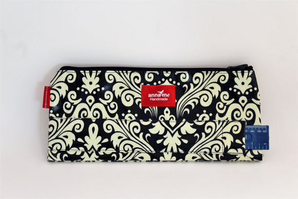 Navy Double Pencil Bag