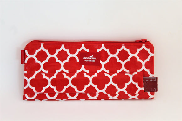 Red Double Pencil Bag