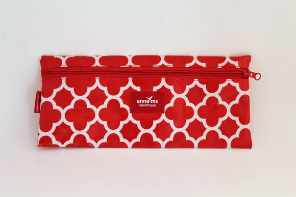 Red Single Pencil Bag
