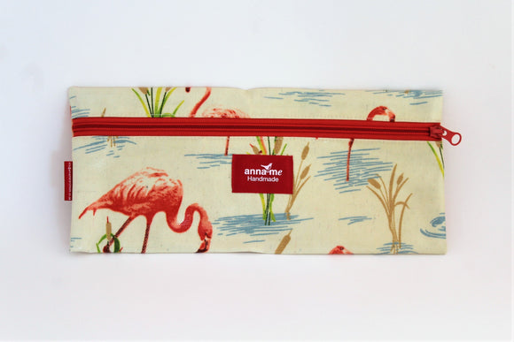 Flamingo Single Pencil Bag