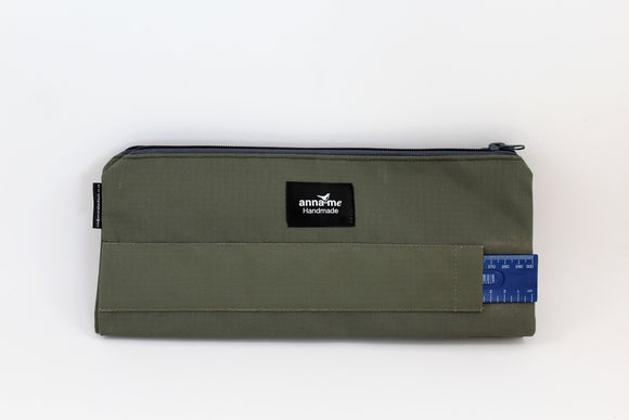 Ripstop Khaki Double Pencil Bag